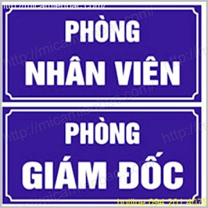 Biển phòng mica