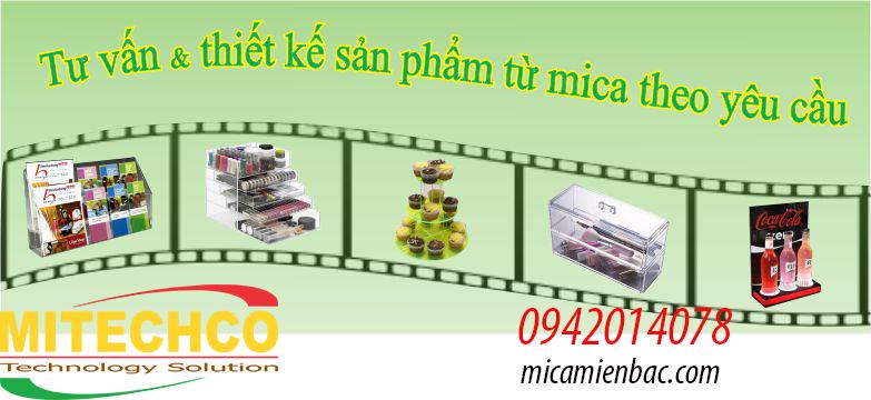 Mitechco sản xuất kệ mica đựng tờ rơi