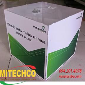 Hòm phiếu mica trong làm tại Mitechco