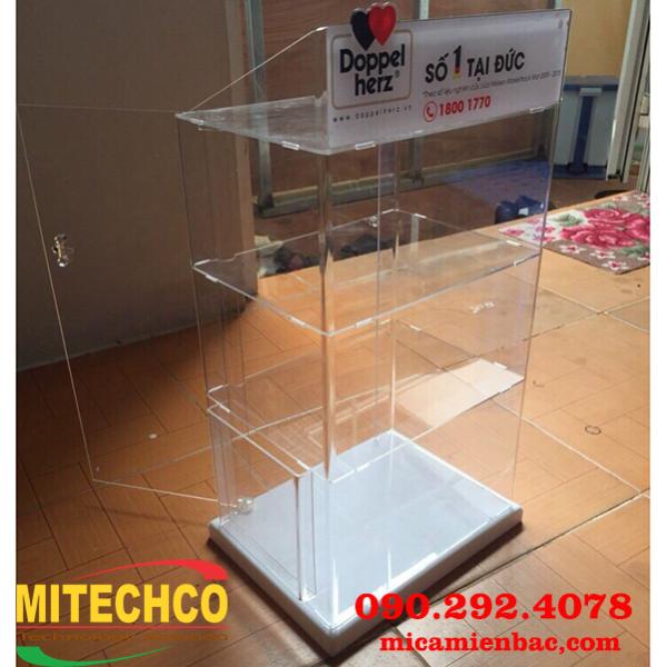 Tủ mica trưng bày sản phẩm, tủ thuốc mica